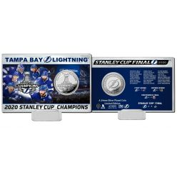Tampa Bay Lightning 2020 Stanley Cup Champions Silver Coin Card