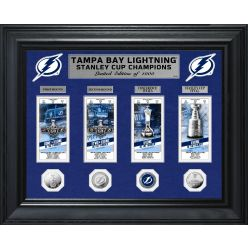 Tampa Bay Lightning 2020 Stanley Cup Champions Deluxe Gold Coin & Ticket Collection
