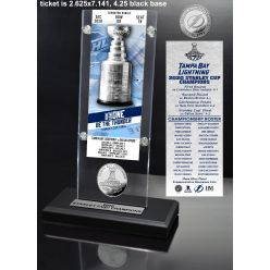 Tampa Bay Lightning 2020 Stanley Cup Champions Ticket & Silver Coin Acrylic Desk Top