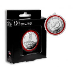 Tampa Bay Lightning 2021 Stanley Cup Champions Silver Mint Coin Ornament