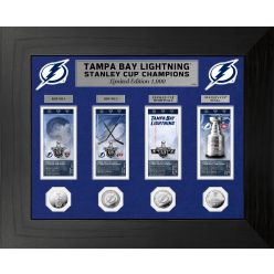 Tampa Bay Lightning 2021 Stanley Cup Champions Deluxe Silver Coin and Ticket Collection