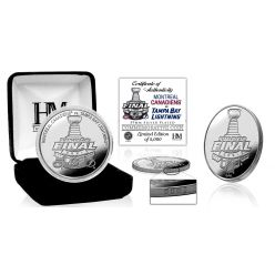 Montreal Canadiens vs Tampa Bay Lightning 2021 Stanley Cup Final Dueling Silver Mint Coin