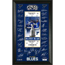 St. Louis Blues 2019 Stanley Cup Final Signature Ticket
