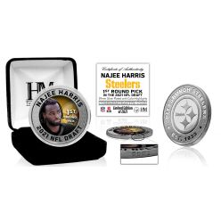 Najee Harris Pittsburgh Steelers 2021 NFL Draft 1st Round Pick Silver Mint Coin