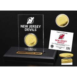 New Jersey Devils Gold Coin Etched Acrylic