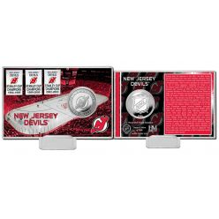 New Jersey Devils History Silver Coin Card