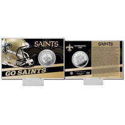 New Orleans Saints 2020 Team History Coin Card