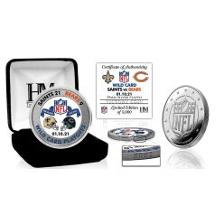 New Orleans Saints 2020/21 NFC Wild Card Game Victory Silver Mint Coin