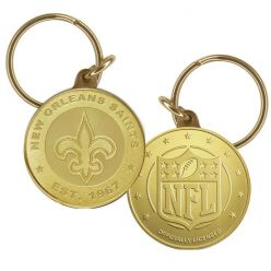 New Orleans Saints Bronze Keychain