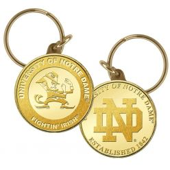 University Of Notre Dame Bronze Coin Keychain