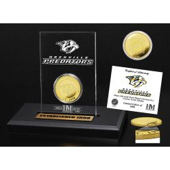 Nashville Predators Gold Coin Etched Acrylic