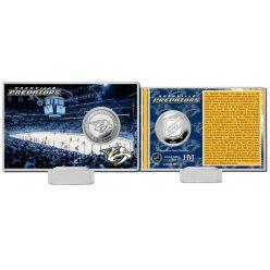 Nashville Predators History Silver Coin Card