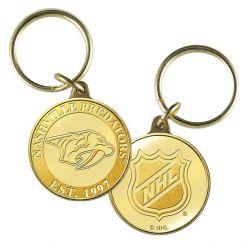 Nashville Predators Bronze Team Keychain