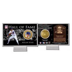Nolan Ryan Class of 1999 Hall of Fame Bronze Coin Card