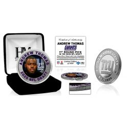 New York Giants Andrew Thomas 2020 NFL Draft 1st Round Silver Coin