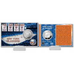 New York Islanders History Silver Coin Card