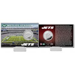 New York Jets Team History Silver Coin Card