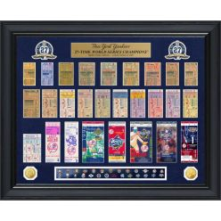 New York Yankees World Series Deluxe Gold Coin & Ticket Collection