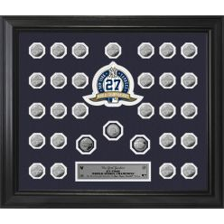 New York Yankees World Series 30 Coin Collection Frame