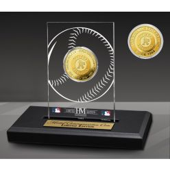 Oakland Athletics 4-Time Champions Acrylic Gold Coin