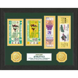 Oakland Athletics World Series Ticket Collection