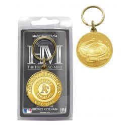 Oakland Athletics Bronze Team Keychain