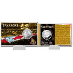Ottawa Senators History Silver Coin Card