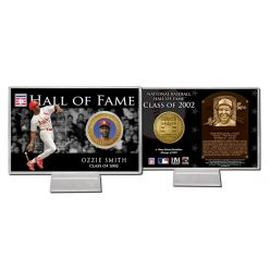 Ozzie Smith Class of 2002 Hall of Fame Bronze Coin Card