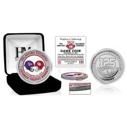 Oklahoma Sooners TCU Dueling Color Silver Coin