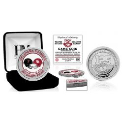Oklahoma Sooners TTU Dueling Color Silver Coin