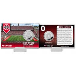 Ohio State University Team History Silver Coin Card
