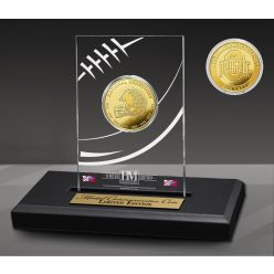 Ohio State University Buckeyes 8-Time National Champions Gold Coin in AcrylicDisplay