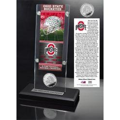 Ohio State 8x Champions Ticket & Bronze Coin Acrylic Desk Top