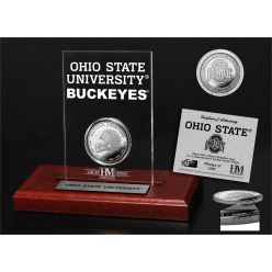 Ohio State University 8-Time National Champions Silver Coin Etched Acrylic