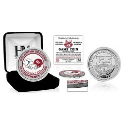 Oklahoma Sooners WVU Dueling Color Silver Coin