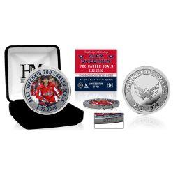 Alex Ovechkin 700th Career Goal Color Silver Coin