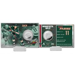 Zach Parise Silver Coin Card