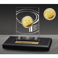 Pittsburgh Penguins 5-Time Champions Acrylic Gold Coin