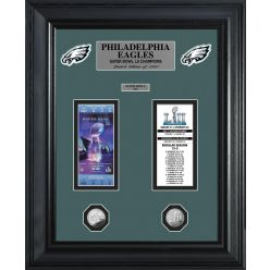 Philadephia Eagles Super Bowl Champions Deluxe Gold Coin Ticket Collection