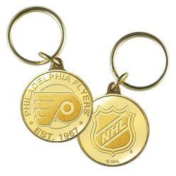 Philadelphia Flyers Bronze Team Keychain