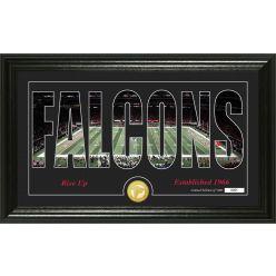 "Atlanta Falcons ""Silhouette"" Panoramic Bronze Coin Photo Mint"