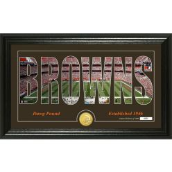 """Cleveland Browns """"Silhouette"""" Panoramic Bronze Coin Photo Mint"""