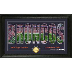 "Denver Broncos ""Silhouette"" Panoramic Bronze Coin Photo Mint"