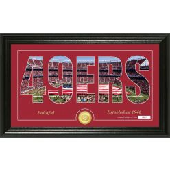 """San Francisco 49ers """"Silhouette"""" Panoramic Bronze Coin Photo Mint"""
