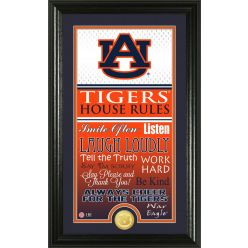 "Auburn University ""House Rules"" Supreme Bronze Coin Photo Mint"