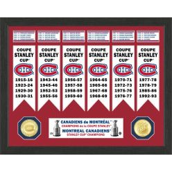 Montreal Canadiens Stanley Cup Banner Collection Photo Mint