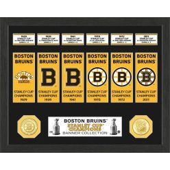 Boston Bruins Stanley Cup Banner Collection Photo Mint