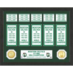 "Boston Celtics ""Banner"" Bronze Coin Photo Mint"