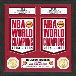 "Houston Rockets ""Banner"" Bronze Coin Photo Mint"