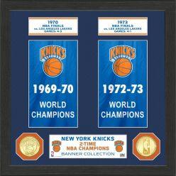 """New York Knicks """"Banner"""" Bronze Coin Photo Mint"""